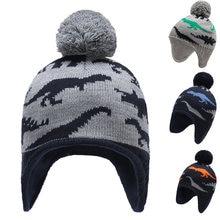 Шапка ушанка зимняя вязаная шапка для мальчиков Теплая Флисовая