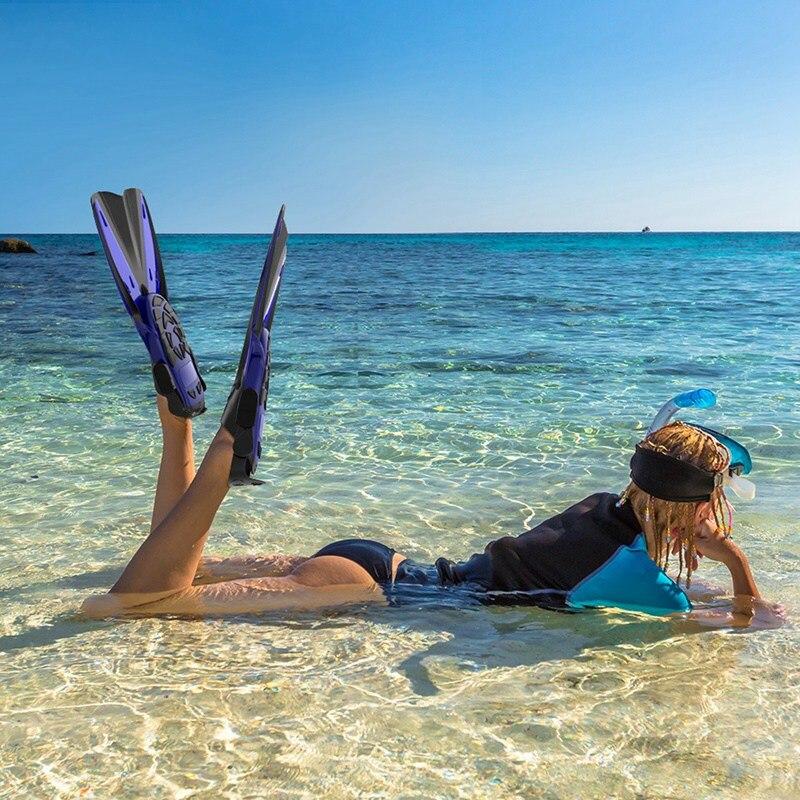 Дети взрослые профессиональные ласты для плавания Подводное плавание дайвинг Обучение Купальники гибкие ласты обувь ножная одежда