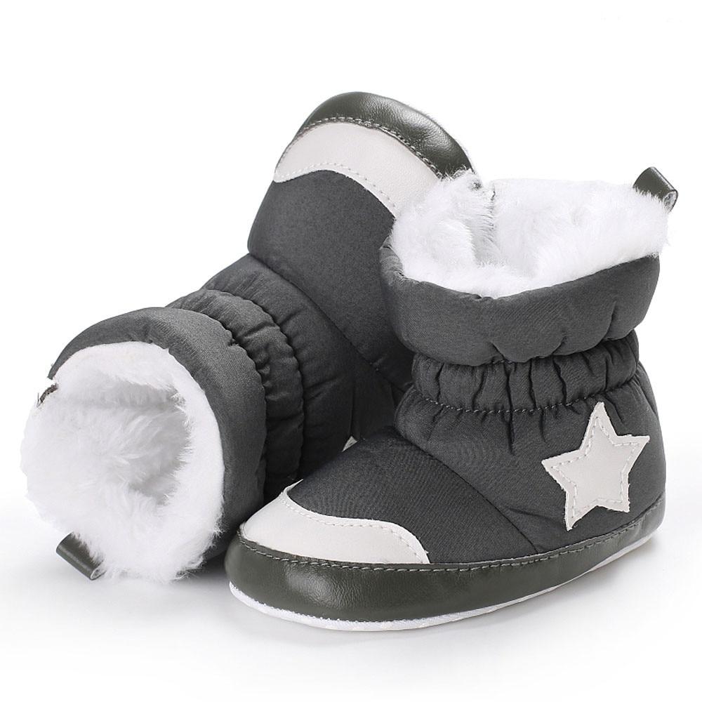 Newborn Winter Baby Shoes Boys Girls Soft Boots Kids Fashion Warm Thickening Snow First Walker Booties Toddler Anti-Slip BFOF