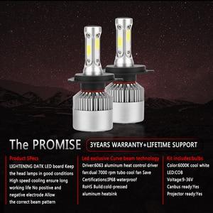 Image 3 - 2PCs H7 H4 LED Bulb Car Headlight COB H11 H1 H13 H3 H27 9005/HB3 9006/HB4 9007 Hi Lo Beam 80W 12000LM Auto Headlamp