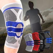 1PC Sports Kneepad Men Pressurized Elastic Knee Pads Support Fitness Gear Basketball Volleyball Brace Protector