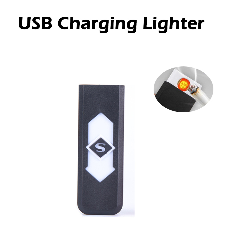 EDC Outdoor Rechargeable USB Charging Lighter Windproof Flameless Electronic Electric Cigarette Smokeless Super Lighters