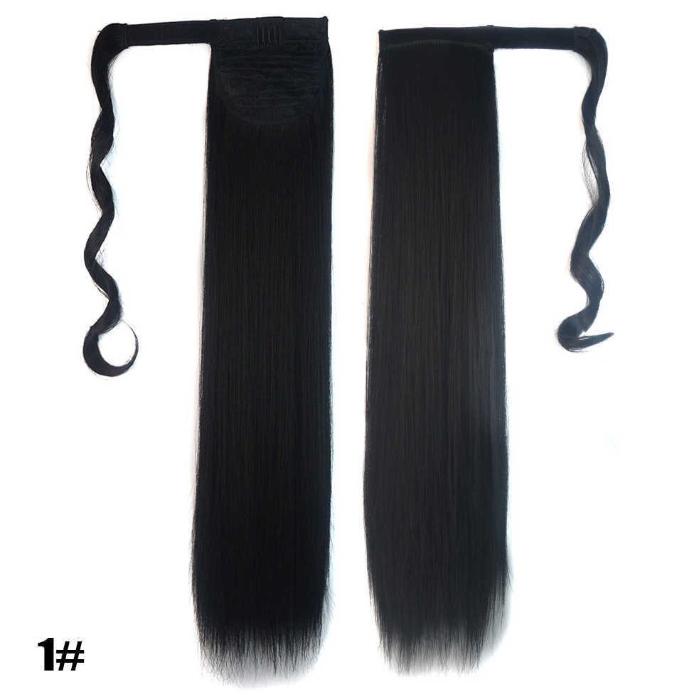 Pelo Largo BEIYUFEI, envoltura recta, Clip en la cola de caballo, extensión de cabello resistente al calor, cola de Pony sintética, pelo falso