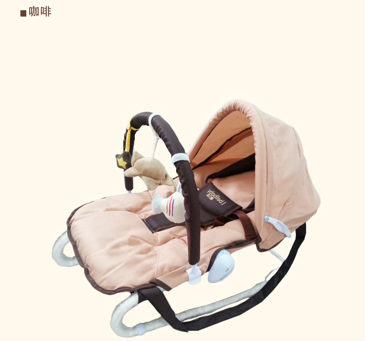 H0461420da73d4e8cb09dbe591da369298 Baby Rocking Chair Multi-function Artifact Baby Comfort Recliner Shake Bed Sleeping Children Cradle Bed Bassinet