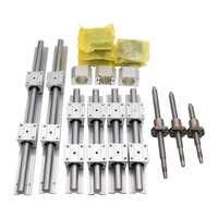 SBR16 SBR20 linear rail set + 3 ballscrew SFU1605+BK/BF12 + nut housing + couplers+SBR blocks for CNC router/Milling Machine