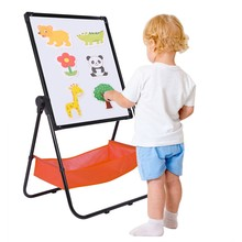 Whiteboard Black Art-Easel Double-Sided-Stand Adjustable Kids for