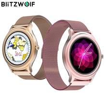 BlitzWolf BW AH1 Smart Watch Full touch HR Blood Pressure Monitor Sport Custom Wallpaper Weather Push Female Elegant Fashion