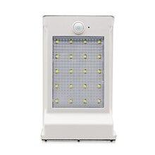 DCOO 20LEDs Solar Outdoor Lamp Infrared Motion Sensor Lighting  IP65 Waterproof Replaceable Battery For Front Door Yard Garage