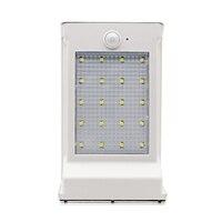 Dcoo 20 leds 태양 야외 램프 적외선 모션 센서 조명 ip65 방수 교체 배터리 전면 도어 야드 차고