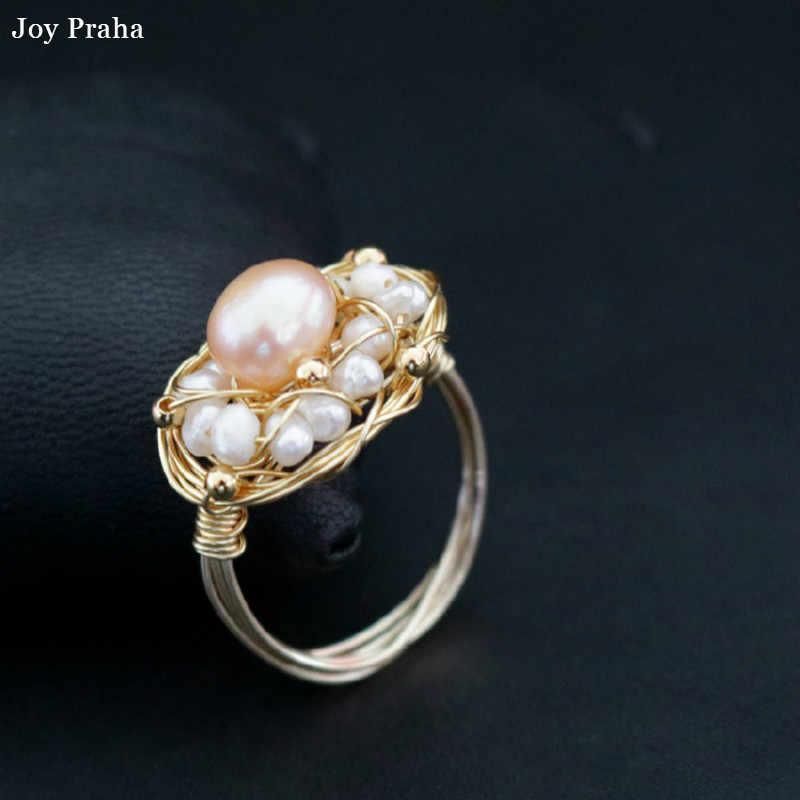 Барокко пресноводных женщин кольцо/оригинальный дизайн указательный палец кольцо/Оптовая Прямая поставка