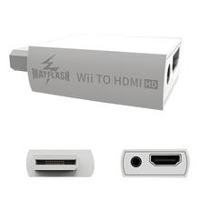 Mayflash para wii para hdmi adaptador conversor suporte 720p1080p 3.5mm de áudio para hdtv