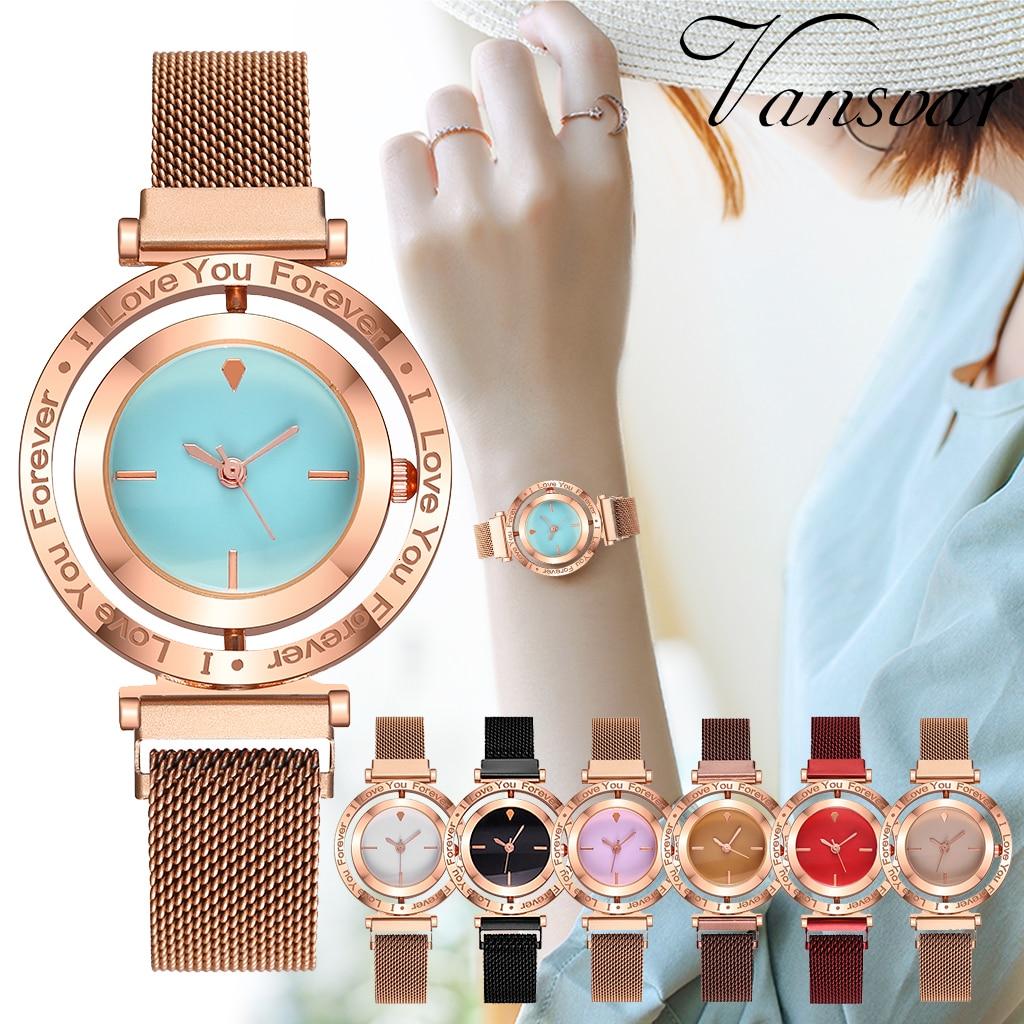 Women Magnetic Watches Rotate Head Luxury Ladies Quartz Watches Casual Girls Gift Wristwatches Clock Zegarek Damski