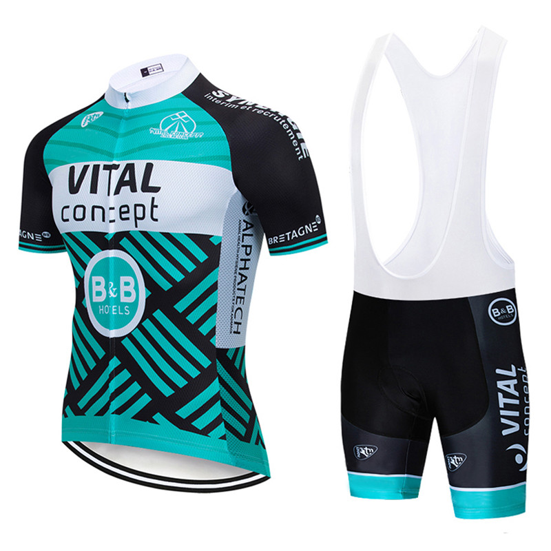 VITAL cycling jersey suit summer men short sleeves bib shorts set pro team bike clothing ropa ciclismo running bicycle uniform
