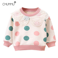 Newborn Casual Sweater 2020 New Autumn Baby Girls Clothing Cute Dot Pattern Long Sleeve Sweater Pullover Tops Children Clothing