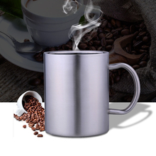 Stainless Steel Double Walled Mugs: 100% BPA Free,15 oz Metal Coffee & Tea Cup Mug - Insulated Cups with Handles Keep Drinks Hot