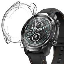 רך מגן כיסוי עבור Ticwatch פרו 3 GPS שעון מקרה עבור Ticwatch פרו 3 LTE מגן TPU פגוש Smartwatch פגז אבזרים