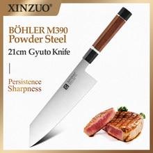 XINZUO 210mm Nakiri Gyuto Bolher M390 Powder Steel Butcher Knife Cleaver Cutter Filleting Chef Kitchen Tools