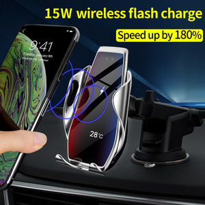Image 2 - 15W Car Qi Wireless Charger For iPhone 12 11 Pro Xs Max Mini X Xr 8 Induction Fast  cargador Charging Pad For Samsung Xiaomi