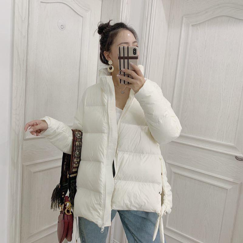 AYUSNUE Autumn Winter Women's Down Jacket Puffer Coat Korean Parka Elegant Warm White Duck Down Jackets Veste Femme KJ3865