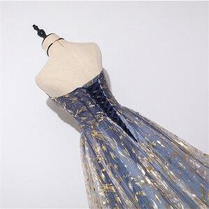 Image 5 - Es der Yiiya Abendkleid Lange Liebsten Glänzende Formales Partei Kleider OY001 Elegante Sleeveless Plus Größe robe de soiree 2020