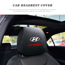 Car Headrest Cushion Neck Pillow Case Auto Seat Headrest Pillow Cover for Hyundai Santa Fe Sonata Solaris Azera Creta I30 Ix25 T