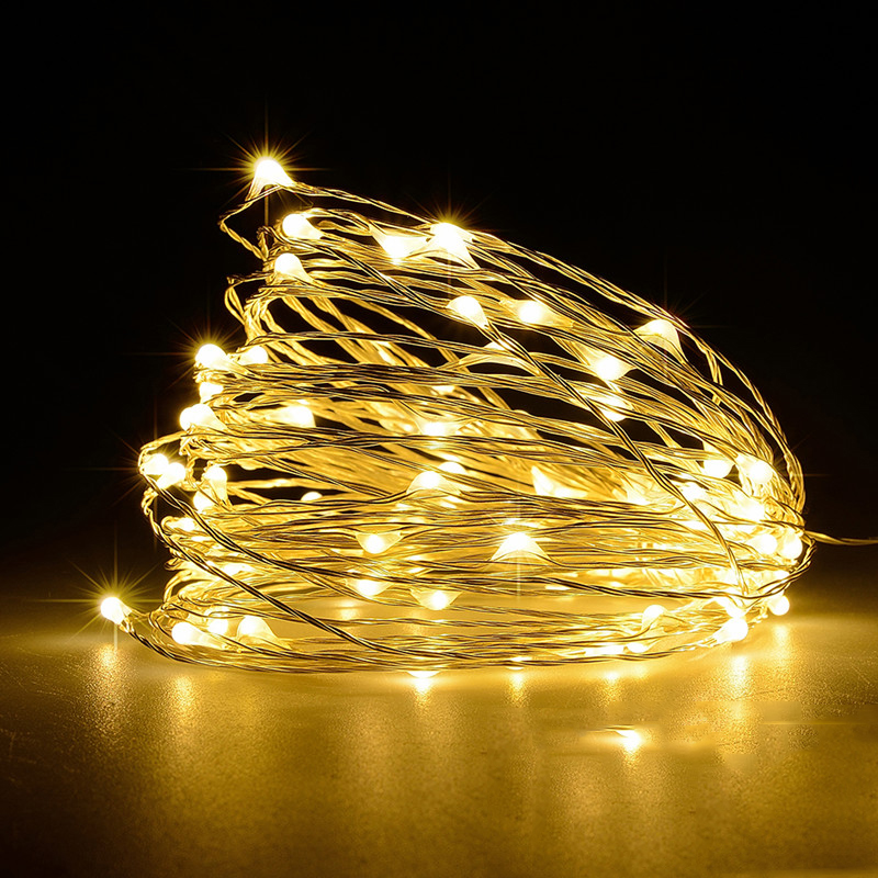 2/3/4/5/10/20M USB LED String Lights Garland Festoon Led Fairy Wedding New Year Christmas Tree Decorations Holiday Curtain Light