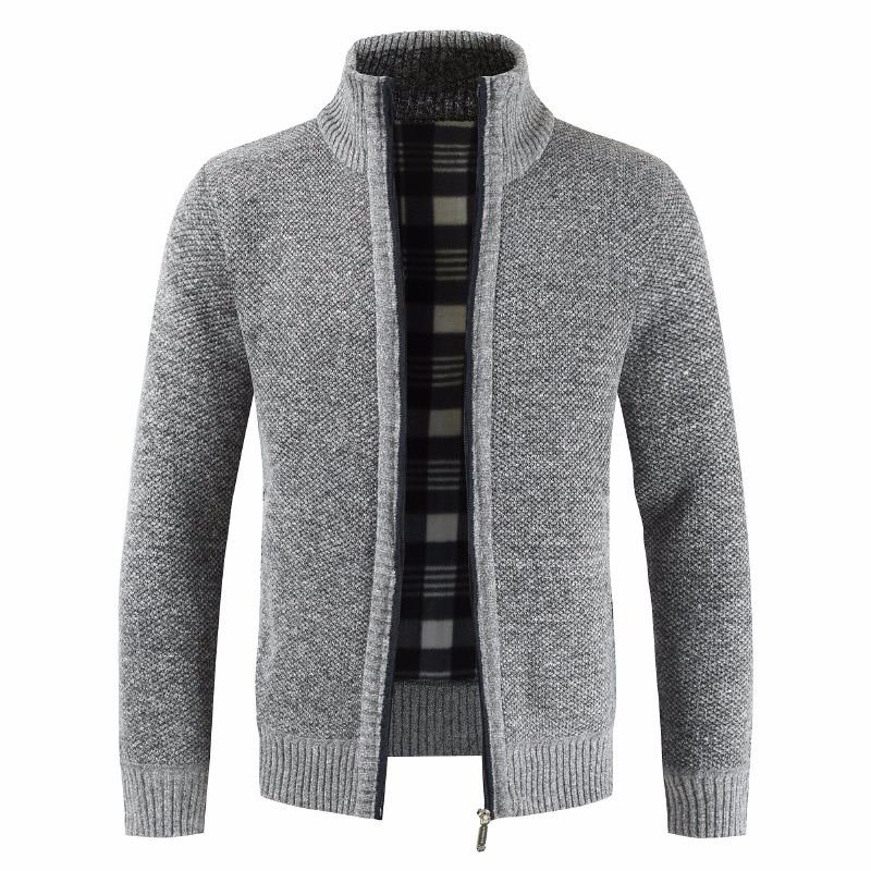 2019 Men Thick New Fashion Business Casual Sweater Cardigan Men Brand Slim Fit Knitwear Outwear Warm Winter Sweater Jumper Men