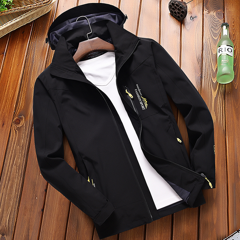 Casual Jacket Men's Spring Autumn Army Waterproof Windbreaker Jackets Male Breathable Hooded Coats Outerwear Size 5XL Overcoat