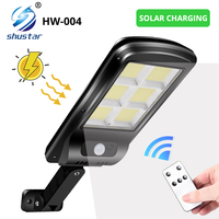 Potente luz Solar para exteriores, farola de pared con Sensor de movimiento IR IP65, impermeable con Control remoto, 450 metros cuadrados
