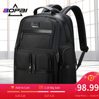 BOPAI Famous Brand Back Pack Bag Black Men Business Travel Backpack Waterproof Large Capacity Expandable Stylish Men Bag Pack