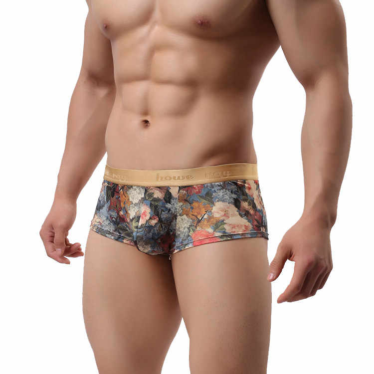 Fashion Silk Underwear Men Man Boxers Homme Comfortable Underpants Soft Breathable Male Panties male underwear cueca masculina