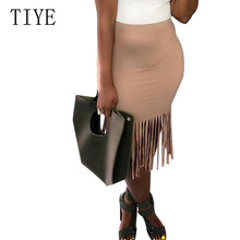 TIYE Fringe High Waist Summer Short Skirt Elegant Hollow Out New Fashion Tassel Stylish Saia Femme Plus Size 3XL