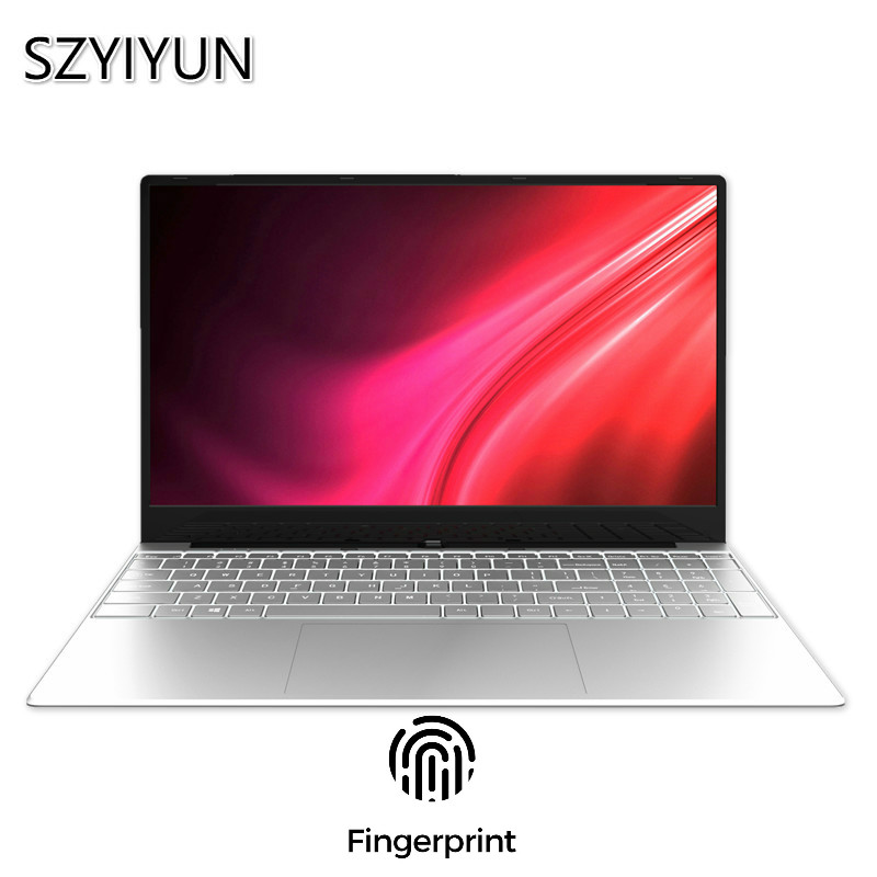 8GB Laptop Fingerprint Unlock Intel 3867U Metal Notebook Business Office CF MC LOL Game PC Computer 1080P Work Student Netbook