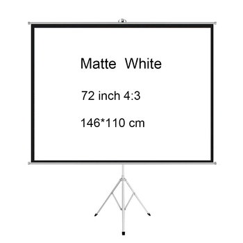 Projector Screen with Stand 72 inch - Indoor Outdoor Matt White Projection Screen  4:3 HD Premium Wrinkle-Free Tripod Screen цена 2017