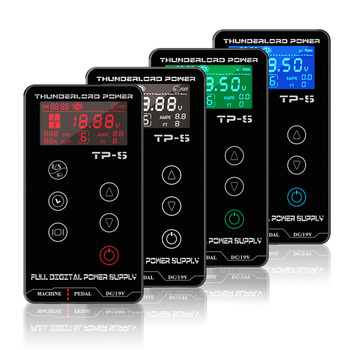THUNDERLORD Digital Tattoo Power Supply LCD Touch Screen Dual Power Source For Tattoo Rotary Pen Makeup Machine Tattoo Supplies mast touch screen power supply tattoo power for tattoo machine supply digital tattoo machine power