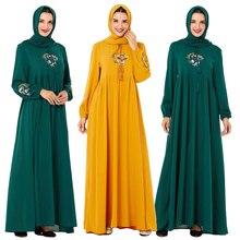 מזדמן העבאיה נשים שמלת מקסי המוסלמי האסלאמי רקמת קפטן בתוספת בציר רופף תפילה שמלות טורקיה בגדי גלימות שמלת חדש