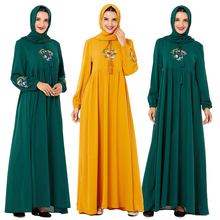 Casual Abaya ผู้หญิงมุสลิมชุด Maxi อิสลามเย็บปักถักร้อย Kaftan Plus Vintage หลวมสวดมนต์ชุดตุรกีเสื้อผ้าชุดเสื้อคลุมใหม่