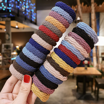 20PCS Women Simple Basic Elastic Hair Bands Ties Scrunchie Ponytail Holder Rubber Bands Girls' Fashion Headband Hair Accessories iteso 2020 new crystal women hair ties girls elastic hair bands ponytail holder scrunchie rubber bands lady hair accessories