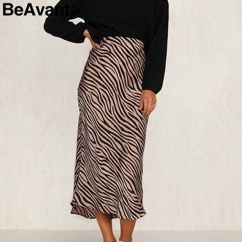 Pruhovaná dámska sukňa beAvant