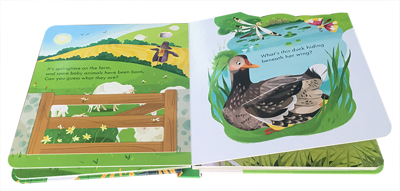 Peep Inside The Farm Original English Educational Picture Books For Baby Early Childhood gift For Children