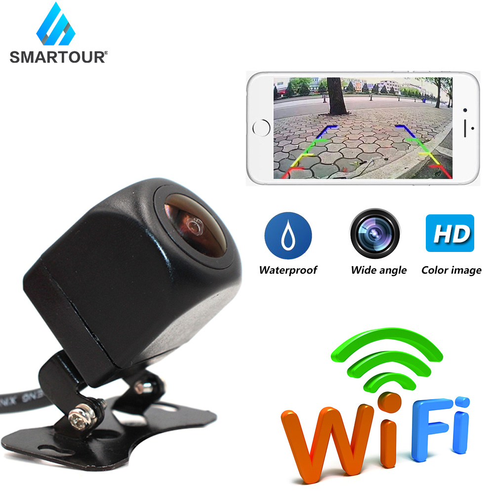 Smartour EU License Plate Frame Camera Wireless WiFi Car Rear View Camera HD Parking System Reverse Assistance for Android  amp  IOS