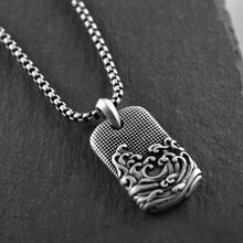Collana da uomo in acciaio inossidabile 316L collana vintage uomo antico mare onde pendenti gioielli 2020 gioielli collana uomo all'ingrosso