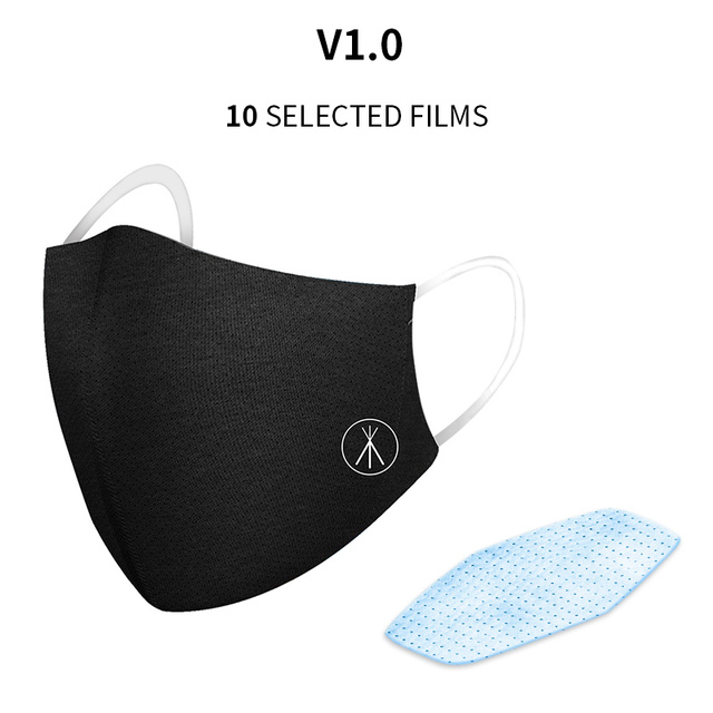 2PCS Cotton Dustproof Protective Mask Activated Carbon Filter Windproof And Flu Mask Equivalent With 10 Filters Y