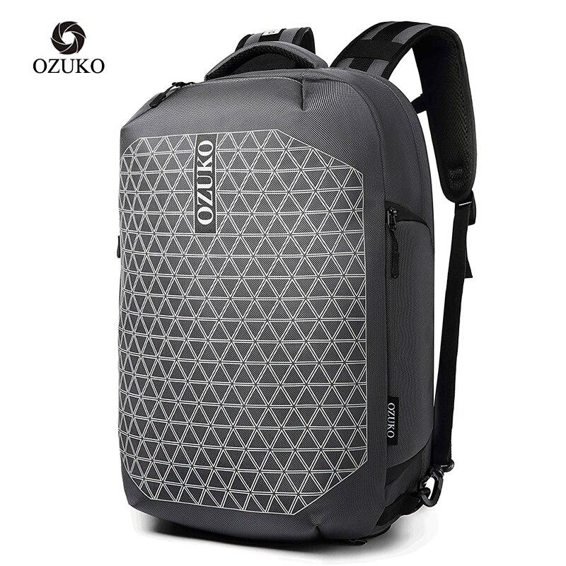OZUKO mode antivol USB Charge sac à dos mâle étanche grande capacité voyage sac à dos hommes 15.6 pouces sacs à dos d'ordinateur portable 2020