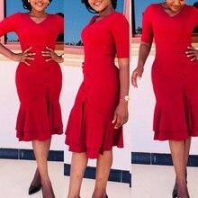 Md 2020 весна лето платье женское с коротким рукавом Миди платья