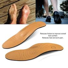 Leather Shoe Insoles Flat Foot High Arch Support Orthopedic