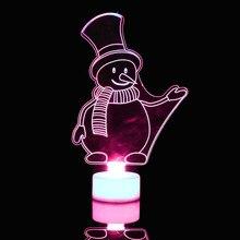 Креативный акриловый красочный Рождественский ночник 3D светодиодный декоративный настенный светильник игрушки для детей