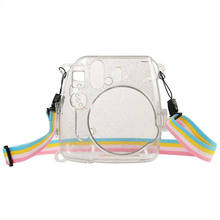 Retail Camera Bag Shining Transparent Plastic Cover Protect Case For Fujifilm Fuji Instax Mini 9 8 8+ Instant With Strap(China)