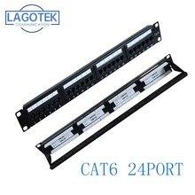 24 포트 CAT6 UTP 키스톤 패치 패널 19 인치 1U cat6 케이블 프레임 페이스 플레이트 rj45 패치 패널 24 포트