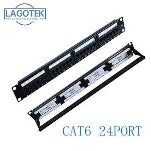 Image 1 - 24 منافذ CAT6 UTP كيستون لوحة التوصيلات 19 بوصة 1U cat6 كابل إطار غطاء rj45 لوحة التوصيلات 24 ميناء